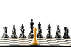 Konfrontation. Schach. Lizenzfreies Stockfoto