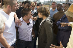 Konfrontation zwischen Leuten stockfotografie