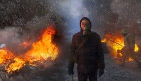 Konfrontera regeringen och oppositionen royaltyfria foton