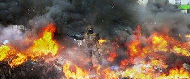 Konfrontera regeringen och oppositionen royaltyfria bilder