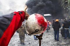 Konfrontierung der Regierung und der Opposition Stockfotografie