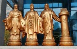 Konfucius Buddha, Jesus, Quran Fotografering för Bildbyråer