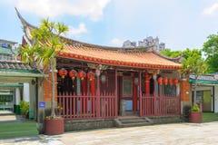 Konfucius tempel i den nya Taipei staden Arkivbild