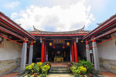 Konfucius tempel i den nya Taipei staden Arkivfoto