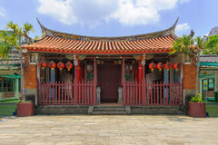 Konfucius tempel i den nya Taipei staden Royaltyfri Foto