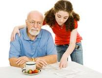 Konfuser älterer Wähler Lizenzfreies Stockbild