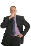 Konfuser Geschäftsmann. Lizenzfreie Stockbilder