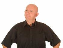 Konfuser mittlerer gealterter Mann Lizenzfreie Stockbilder
