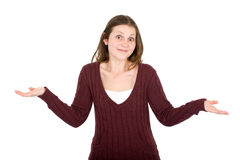 Konfuses beiläufiges Mädchen Lizenzfreie Stockfotografie