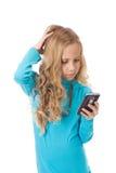 Konfuses junges Mädchen Stockfotografie