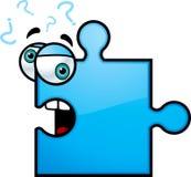 Konfuses Puzzlespiel-Stück Lizenzfreies Stockbild