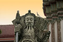 Konfuzius. Temple Mountain in Chiang Mai, Northern Thailand Royalty Free Stock Photography