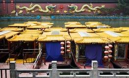 Konfuzius-Tempel-Ausflug-Boote Stockfotos