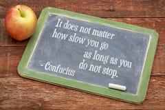 Konfuzius-Zitat auf Ausdauer Lizenzfreies Stockbild
