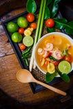 Kong del ñame de Tom o sopa de Tom yum Alimento tailandés - fritada #6 del Stir foto de archivo libre de regalías
