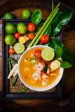Kong del ñame de Tom o sopa de Tom yum Alimento tailandés - fritada #6 del Stir imagen de archivo