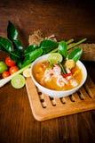 Kong do 'batata doce' de Tom ou sopa de Tom yum Alimento tailandês - fritada #6 do Stir imagens de stock royalty free
