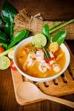 Kong do 'batata doce' de Tom ou sopa de Tom yum Alimento tailandês - fritada #6 do Stir fotografia de stock
