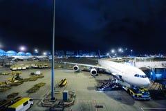 kong för flygplatshong international Royaltyfria Bilder