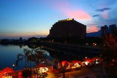 kong för kustguldhong hotell Arkivbild