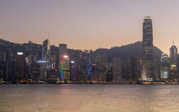 Kong Kong Financial District Royalty Free Stock Images