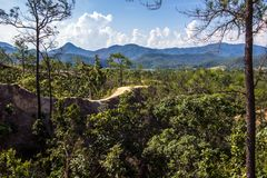 Beautiful steep cliffs,deep valleys and pine forests at Kong Lan Pai Canyon in Pai,Mae Hong Son province,Northern Thailand. Kong Lan Pai Canyon is one of Stock Image