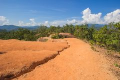 Beautiful steep cliffs,deep valleys and pine forests at Kong Lan Pai Canyon in Pai,Mae Hong Son province,Northern Thailand. Kong Lan Pai Canyon is one of Stock Images