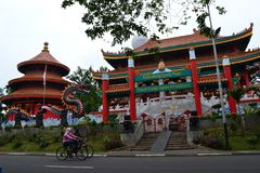 Kong Miao Konfucjuszowa świątynia w Taman Mini Indonezja Indah, Dżakarta Zdjęcia Royalty Free