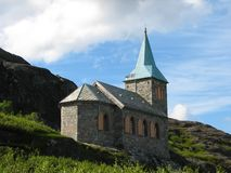 Kong Oscar II Chapel. The Kong Oscar II Chapel in Grense Jacobselv in Norway near the Russian border Royalty Free Stock Images