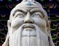 Kong Zi head portrait sculpture Royalty Free Stock Image