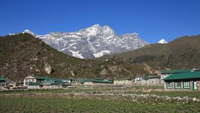 Kongde Ri, view from Khumjung Stock Photography