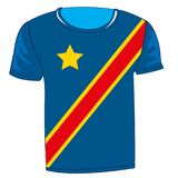 Kongo флага футболки - Киншаса Стоковая Фотография