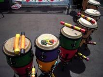Kongo Bębni Newport reggae festiwal Zdjęcia Royalty Free