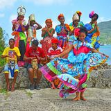 Kongo taniec w Portobelo, Panama zdjęcie royalty free