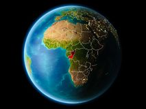 Kongo w wieczór Zdjęcie Royalty Free