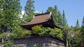 Kongobuji Temple tower in Koyasan, Japan Stock Photo