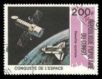 Kongofloden utforskning av rymden, utrymmelopp royaltyfria bilder