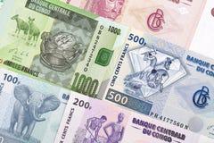 Kongolesiska pengar en affärsbakgrund royaltyfri foto