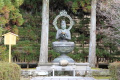 Kongouke Bosatsu av den Ninna jien i Kyoto Royaltyfri Fotografi
