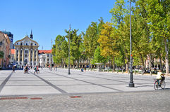 Kongreßquadrat, Ljubljana, Slowenien Lizenzfreie Stockbilder