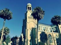 Kongregationen Mickve Israel i savannahen, Georgia, är en av de äldst i Förenta staterna, som det var nollan i Savannah, Georgia  Arkivfoto