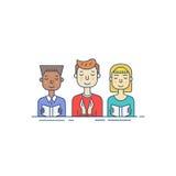 Kongregationlinje symbol stock illustrationer