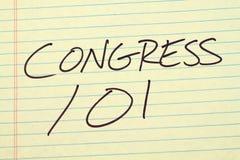 Kongres 101 Na Żółtym Legalnym ochraniaczu Zdjęcie Stock