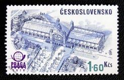 Kongress Hall i Praga, circa 1978 Royaltyfri Bild