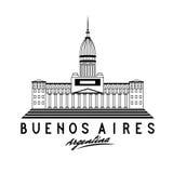 Kongress i Buenos Aires, Argentina, vektorillustra vektor illustrationer