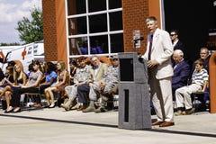 Kongressabgeordnetes Kissel, das bei Zeremonie 9 11 spricht Lizenzfreies Stockbild