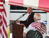 Kongressabgeordnetes Steve King R-IA-4th spricht lizenzfreies stockbild