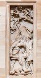 Kongressarkiv Bas Relief Washington Arkivfoton