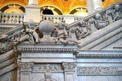 Kongressbibliothek - Engelskulpturen Lizenzfreie Stockbilder