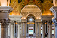 Kongressbibliothek symmetrisches Innenim November 2016 Lizenzfreie Stockfotos